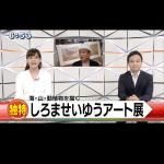 """【 しろませいゆう アート展 """"うみもの やまもの""""  】  ☆QABニュース"""